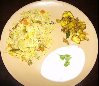 quick simple vegetable biriyani