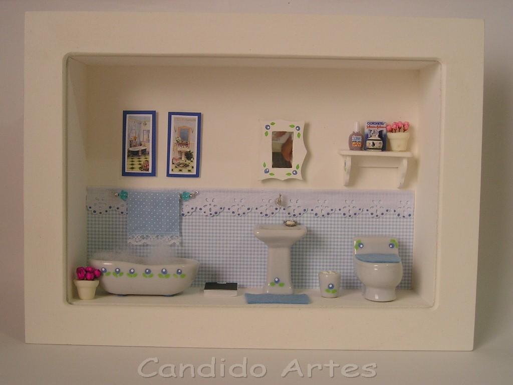 Artesanato Candido Artes: Banheiro azul para Fabiana #654238 1024x768 Azul Para Banheiro