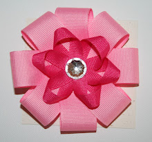 Large Flower Blossom Bows