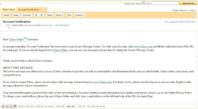 screenshot-phishing email on yahoo from Chase