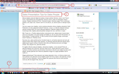 Screenshot Sample Dale Carnegie blog after clicking on the first post title.
