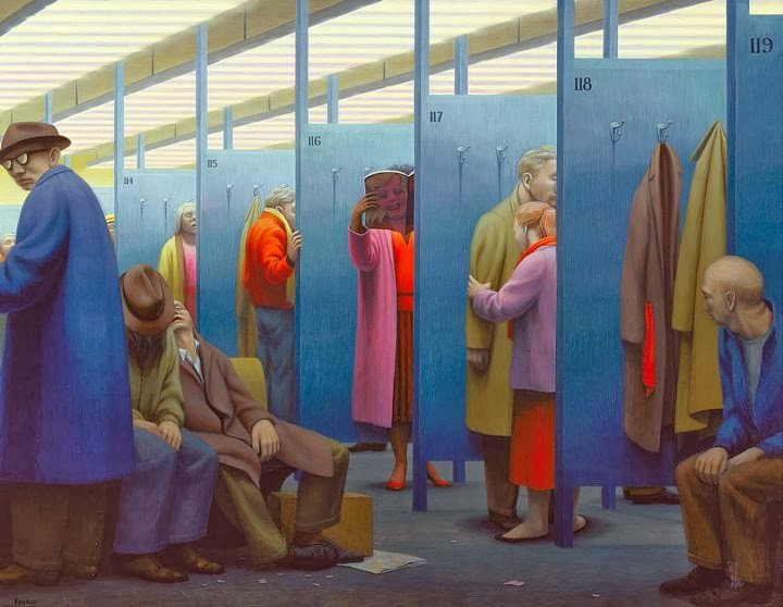 George tooker the waiting room 1959