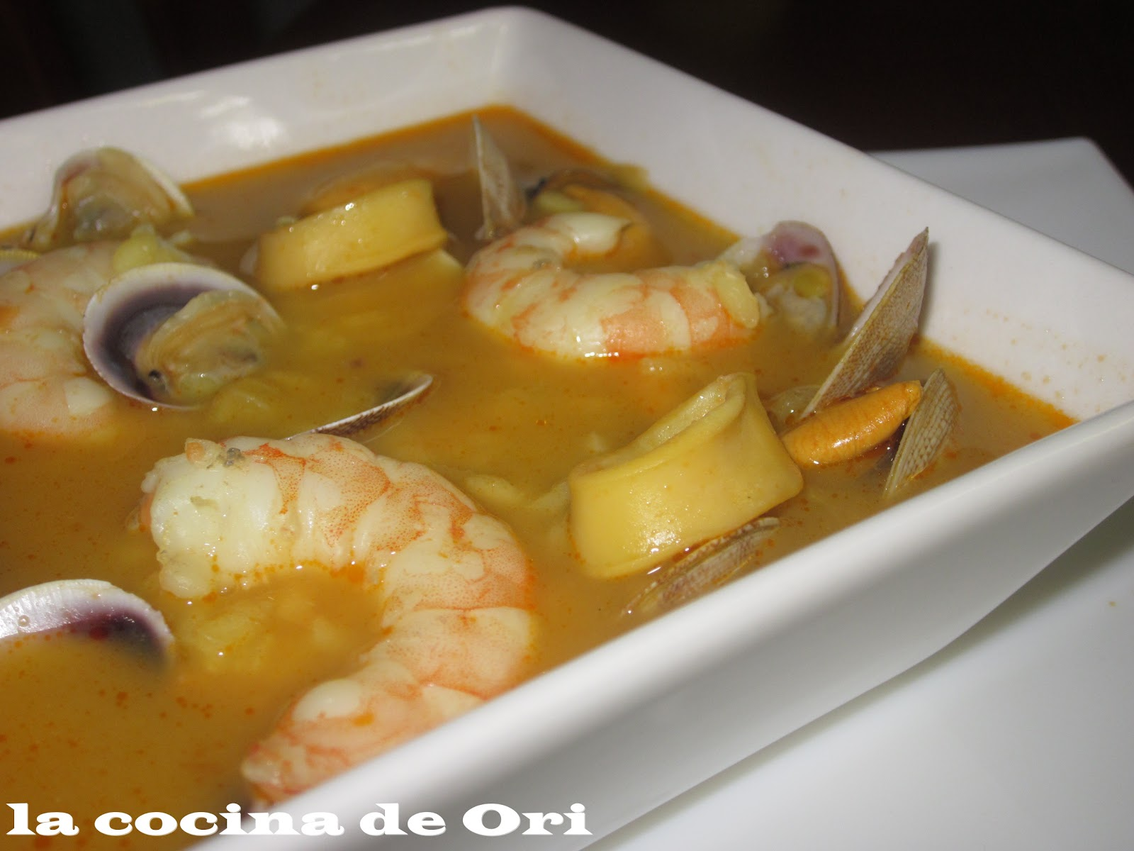 La cocina de ori sopa de pescado y marisco - Sopa de marisco y pescado ...
