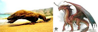Komodo dengan Naga