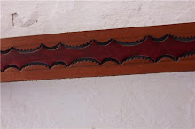 Cinturon de cuero labrado