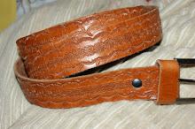 Cinturon labrado en cuero clarito