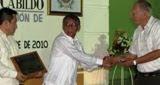 Entrega Medalla Mérito Ciudadano Feria 92 Aniversario Titulación Calkiní como Ciudad. 3dic10.