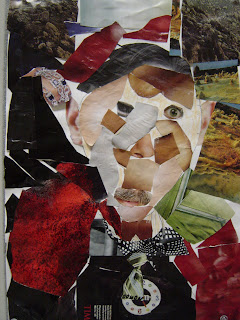 3rd grade cubist self portrait collages