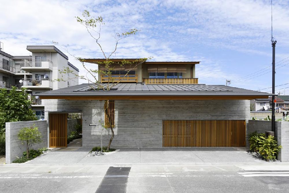 Cawah homes contemporary wooden house in hinomiya by tsc for Modern wood house