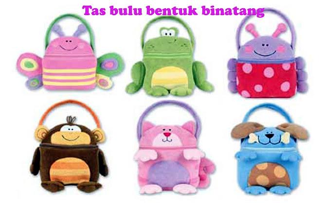 Tas jinjing bulu. Dengan berbagai macam bentuk .