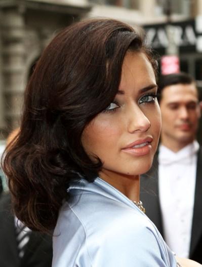 adriana lima hair 2011. adriana lima hairstyles.