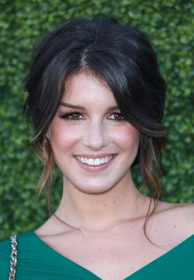 90210 star Shenae Grimes wowed with this soft and elegant updo hairstyle at
