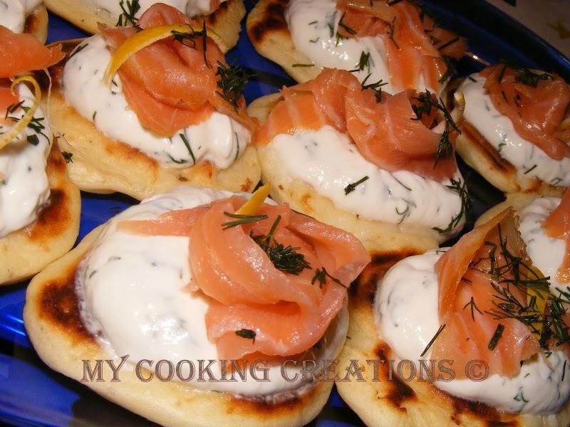 Blini con salmone e mascarpone * Блини с пушена сьомга и маскарпоне