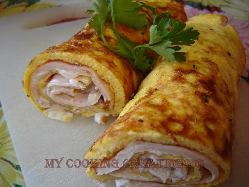 Rotoli con mozzarella e prosciutto cotto * Рулца с моцарела и шунка
