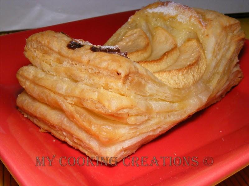 Zurigo con mela e crema pasticcera * Цюрихски десерт с ябълки и пастичера