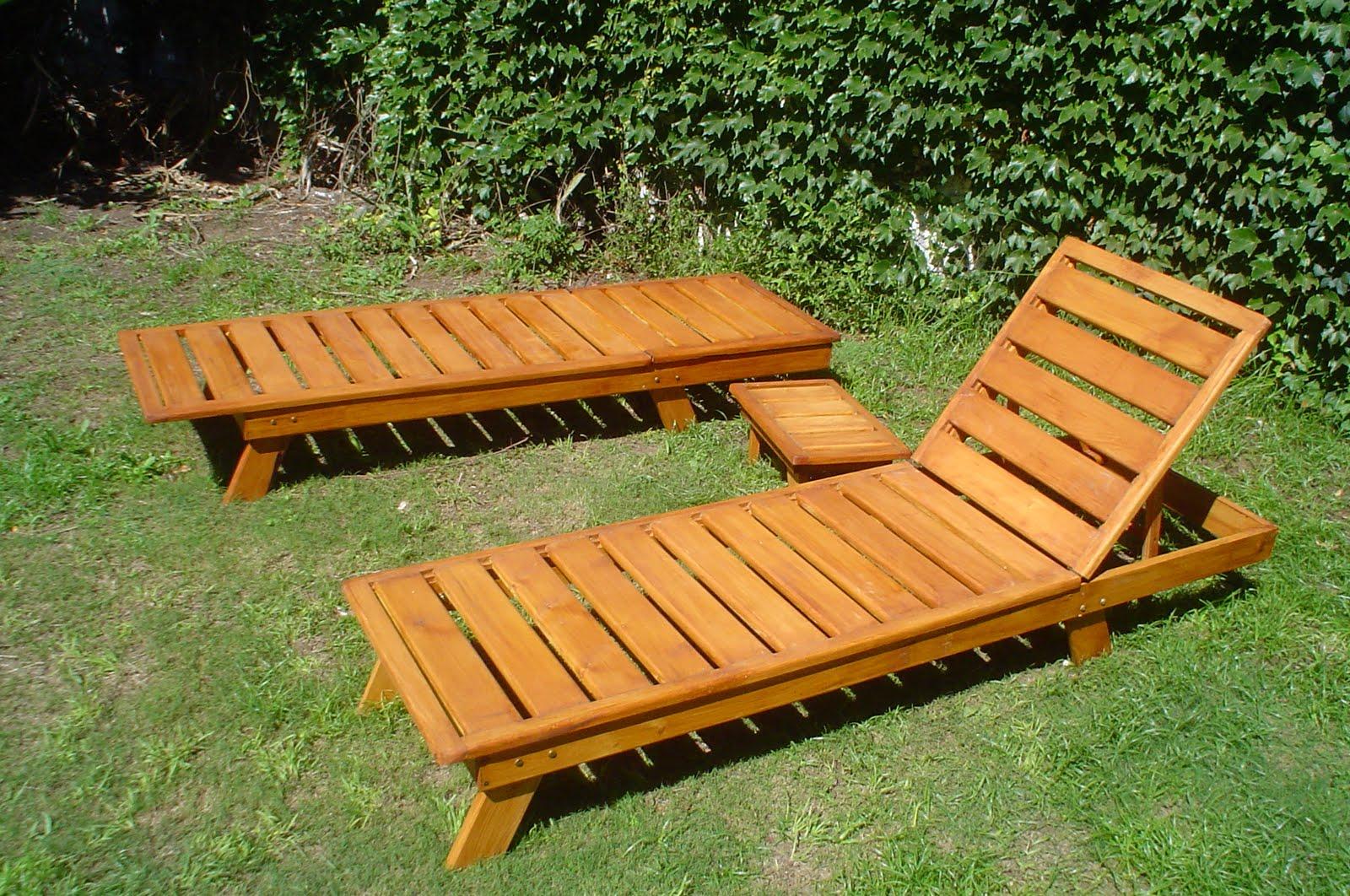 Muebles noruega reposera de madera para jardin for Muebles sillas de madera
