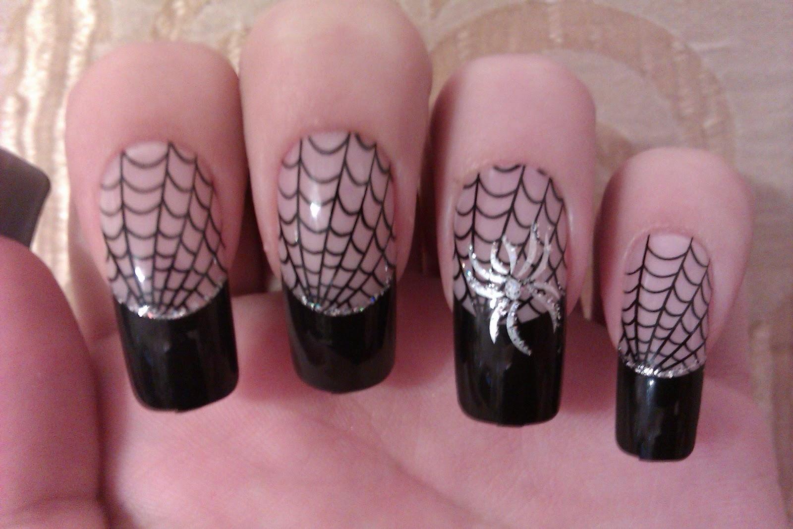 Chloe Beauty NYC: Spooky Spiderweb Nails!!