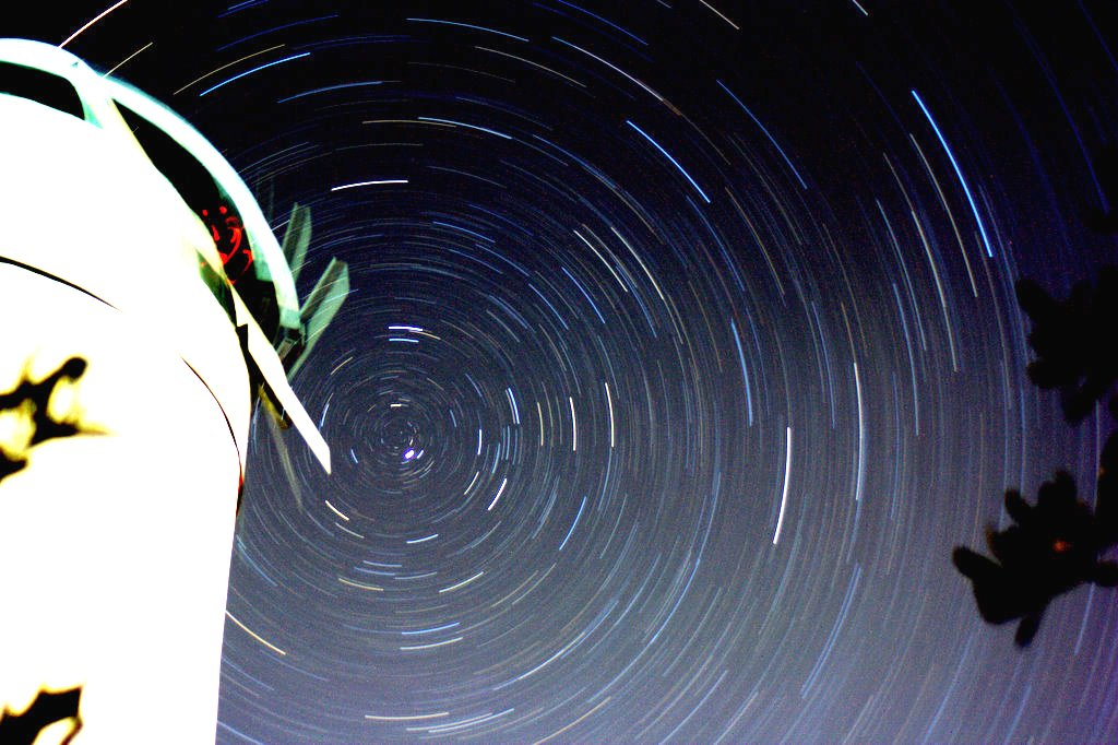Observatory stars trails