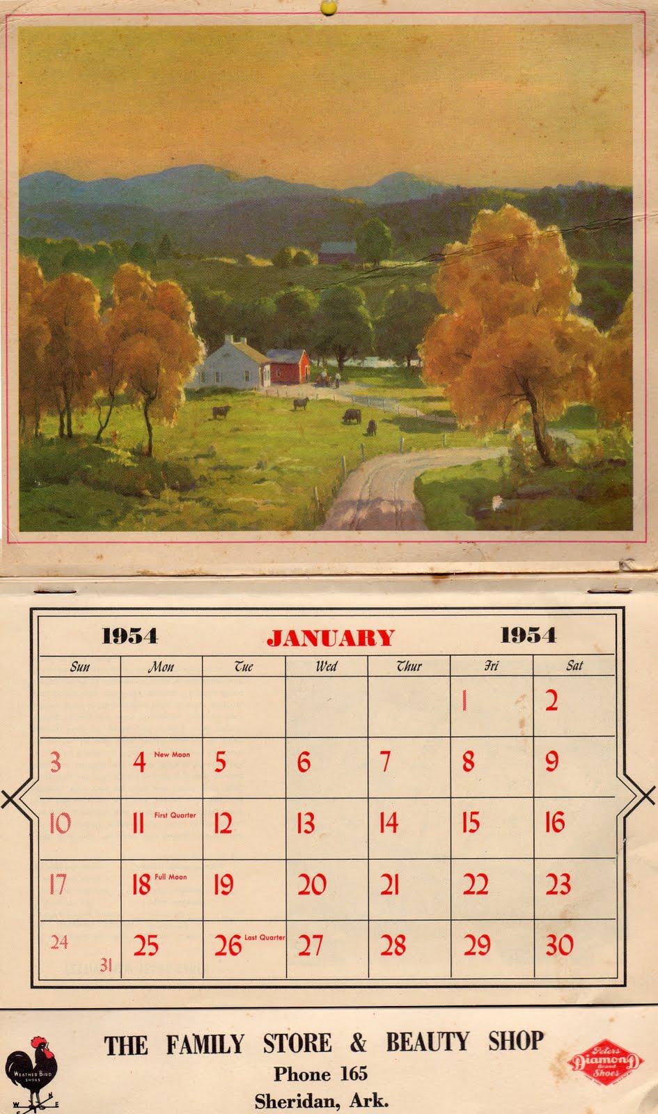 Calendar Vintage : Aaronwilson vintage calendars
