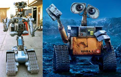 thereelmag hammers high is wall e, short circuit (johnny 5as shown in the pic above, you can\u0027t but think the two are similar in design wall e is cuter in design, but it should be noted that johnny5 was created in