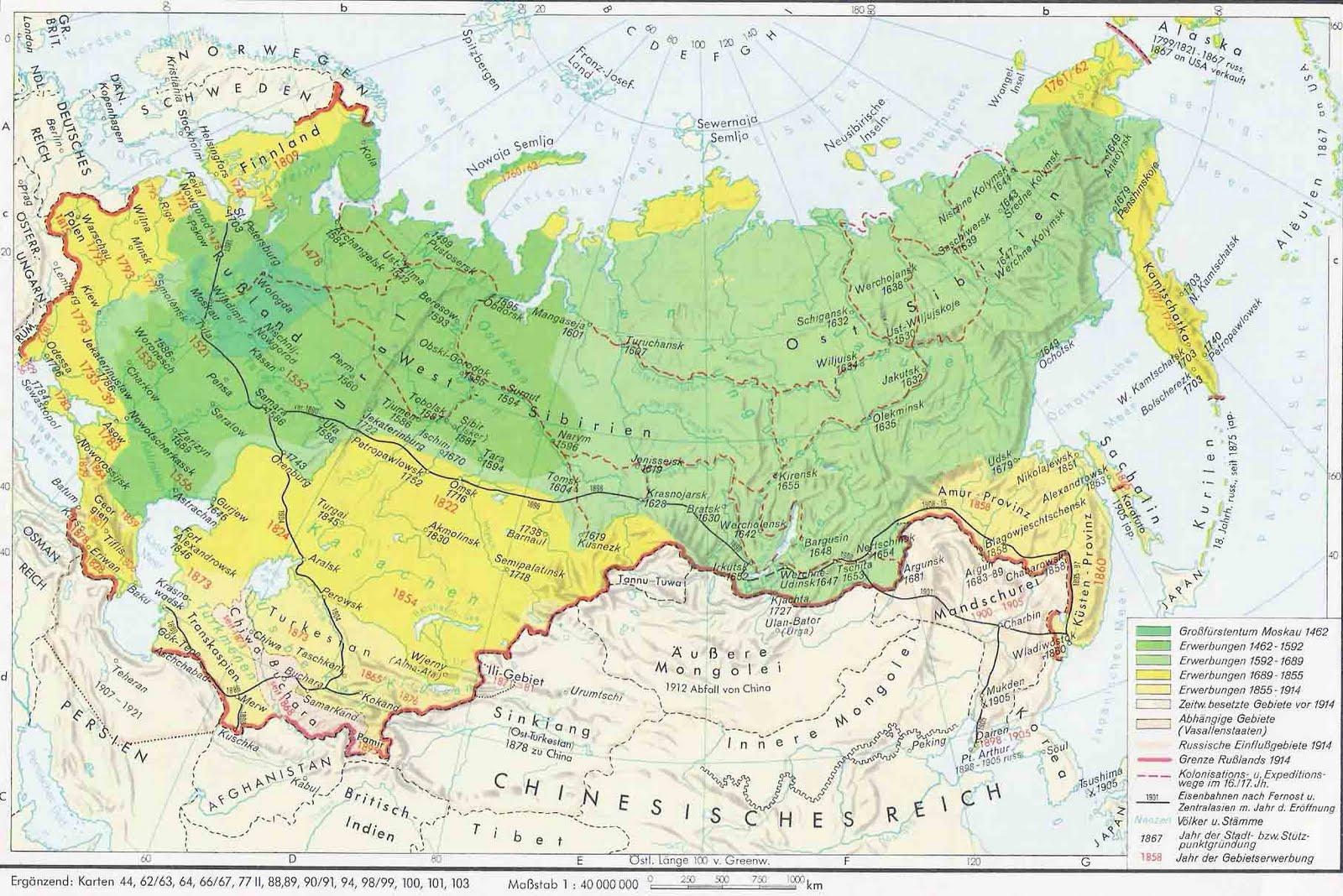 Establecido en el imperio ruso