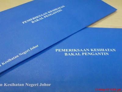 foto Ujian HIV - Pemeriksaan Kesihatan Untuk Bakal Pengantin di Negeri Johor