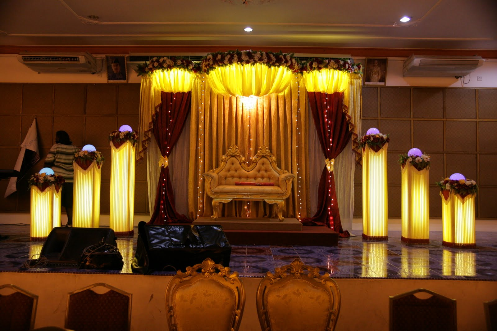 Gemini star 1stop wedding decoration manavarai for Hall decoration