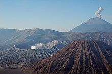 Mount Semeru and Mount Bromo in East Java