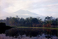Mount Merbabu near Salatiga - much of Central Java's countryside is dominated by rice fields and volcanic peaks