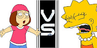 Round Lisa Simpson Vs Meg Griffin