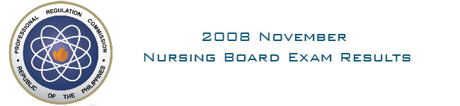 2008 November Nursing Board Exam Results