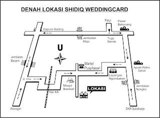 ... Lokasi SHIDIQ WEDDINGCARD Spesial Bikin Kartu Undangan Pernikahan