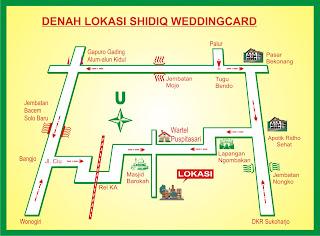 Denah Lokasi Shidiq Weddingcard Spesial Bikin