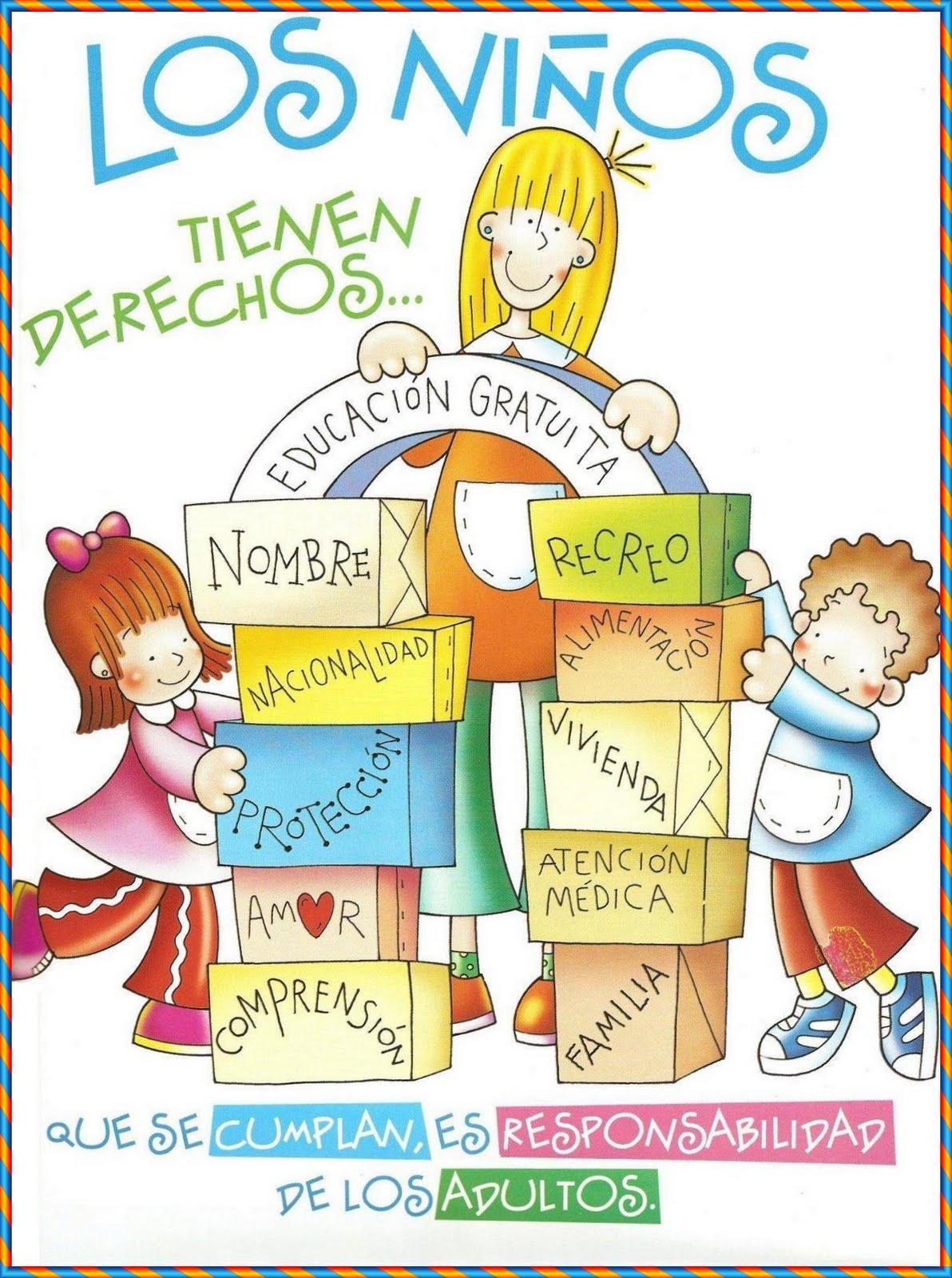 Cartel de los Derechos del Niño para Decorar el Aula