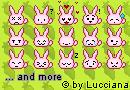 http://ooluccianaoo.deviantart.com/art/pink-bunny-emoticons-109555863