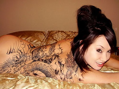 Japanese Dragon Tattoo Design on Girl
