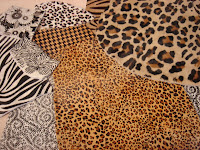 Printed hides from G H Leathers.  All photos here by Lucia Carpio