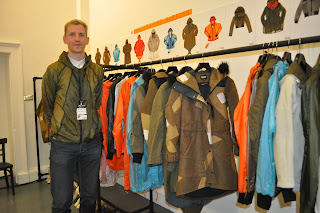 Christopher Raeburn posing with his Autumn/Winter 2010 collection at London Fashion Week in February.  Photo by Lucia Carpio