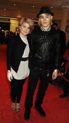 Kelly Osbourne and fiancé Luke Worrall at Whiteleys, photo by Dave M. Benett, Getty Images