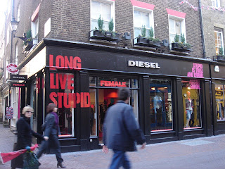 Diesel's store for females on Carnaby Street, London.  Photo by Lucia Carpio