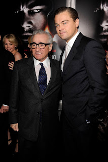 Scorsese and DiCaprio suited in Giorgio Armani
