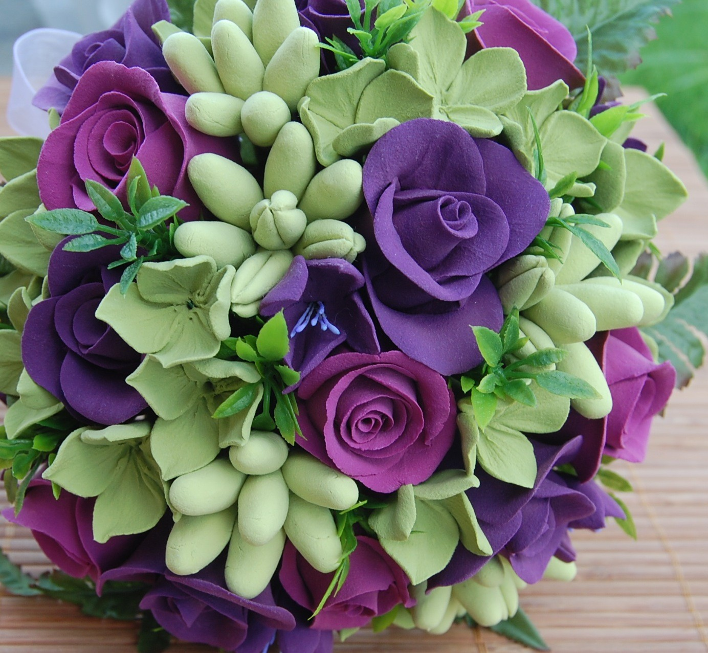 Wedding Bouquets Purple And White Wedding Bouquets