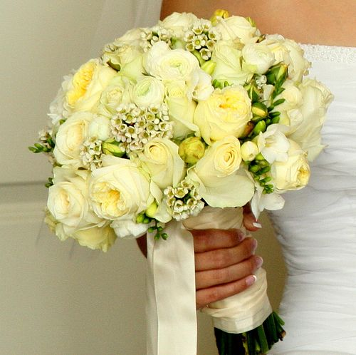 Bouquet bridal yellow roses bridal bouquet simple but striking bridal bouquet containing soft yellow bright yellow and slightly yelloworange roses mightylinksfo