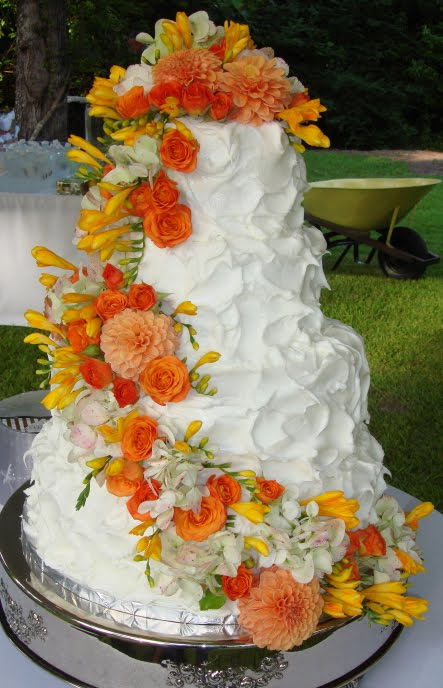 Cascading Flowers Wedding Cakes On Pinterest