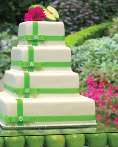 indian wedding templates Green pink and white two tier cake decorated with