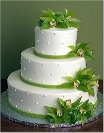 Wedding Cakes Pictures Round Green Orchid Wedding Cakes