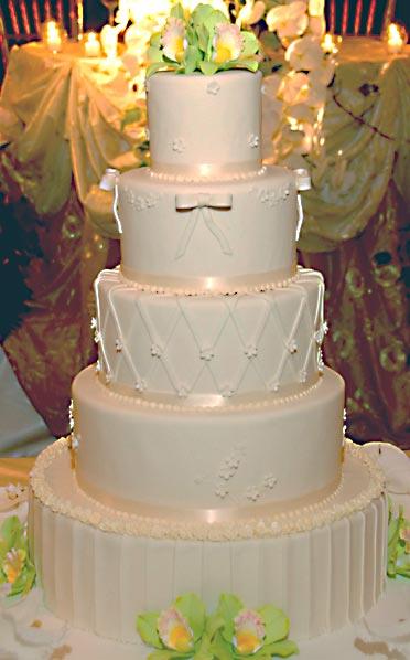 Ediths Blog Beautiful Traditional White Wedding Cake Set