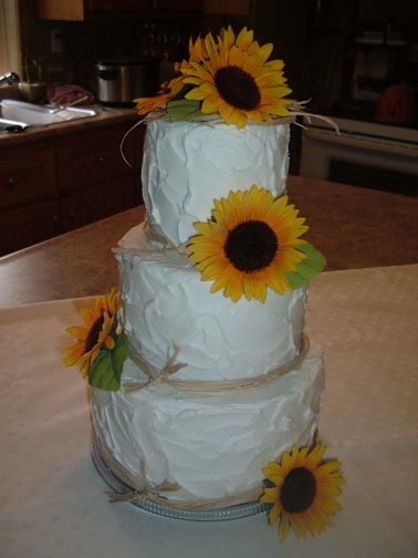Sunflower Wedding Cake - Megaodd.com - Odd Events, Weird Places