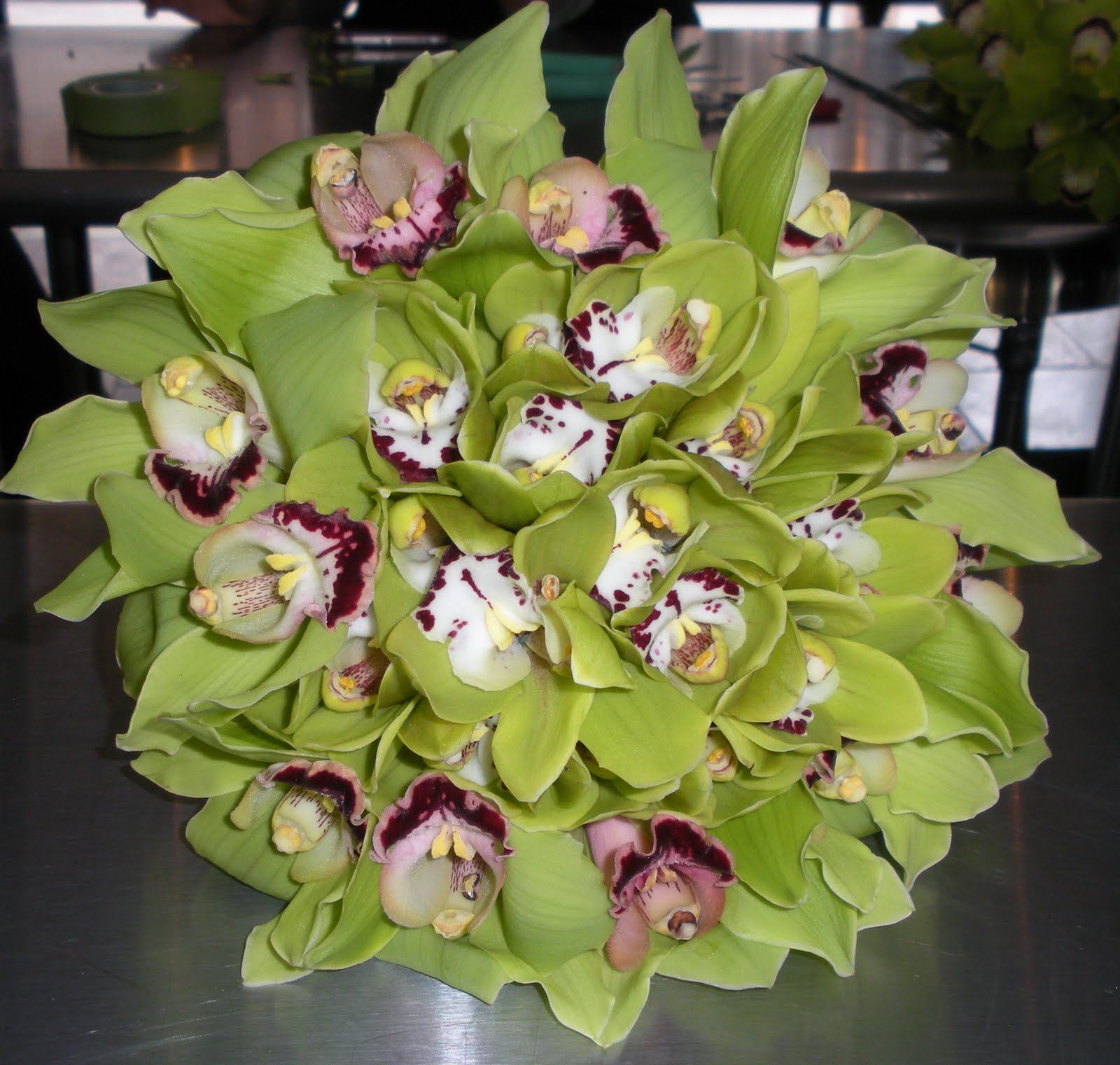 Bouquet Bridal Green Orchids Wedding Bouquets