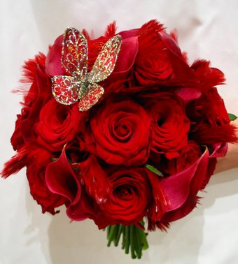 Bouquet Bridal Red Roses Bridal Bouquets